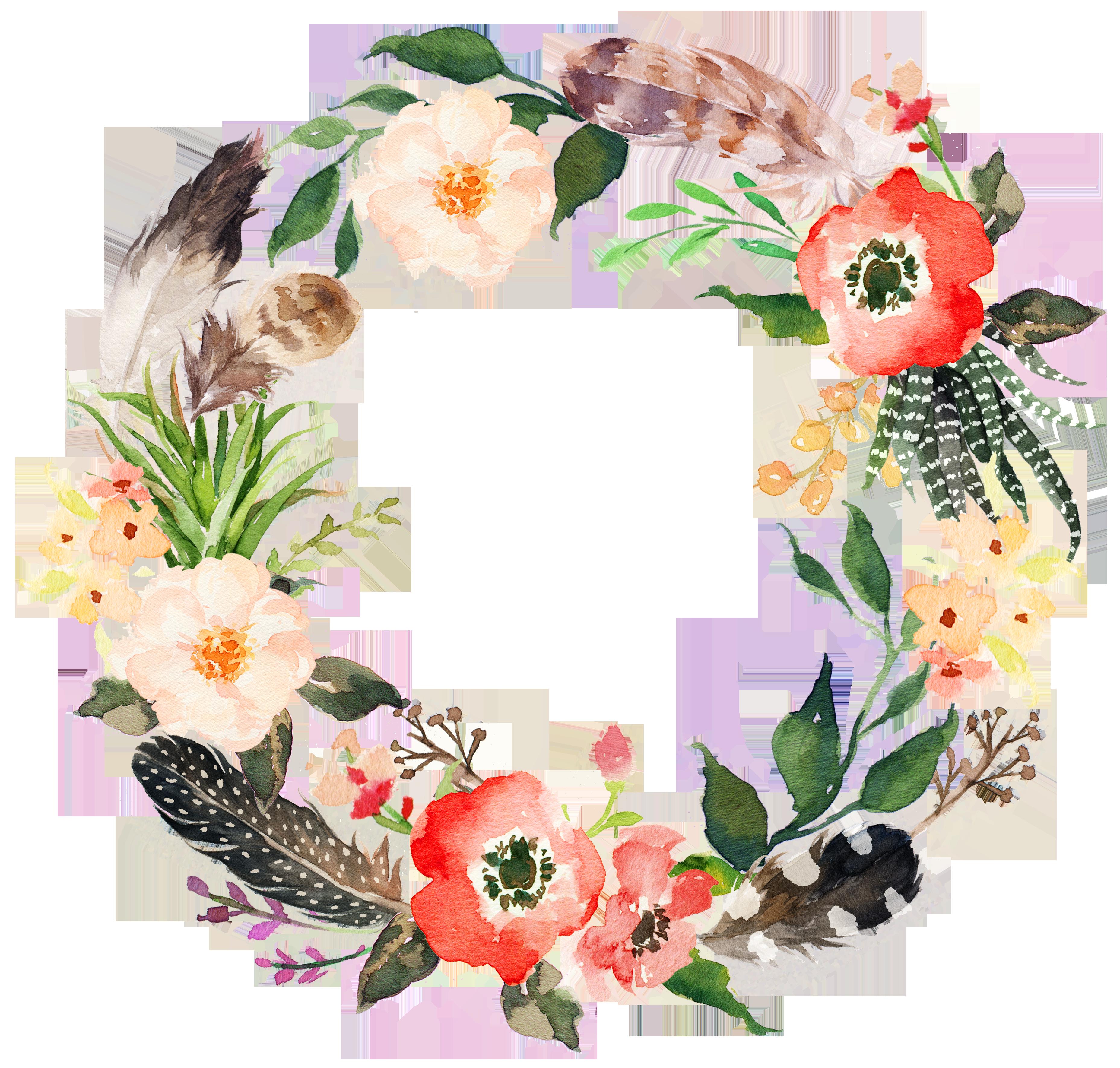 Garland clipart marigold. Wedding invitation wreath flower