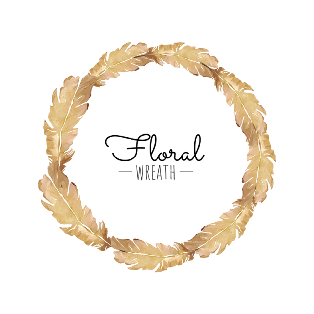 Brown beautiful png and. Feather clipart wreath
