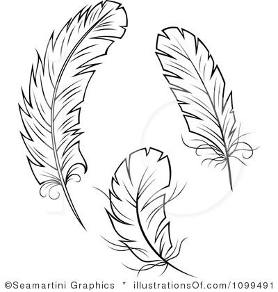 Feathers clipart. Feather outline clip art