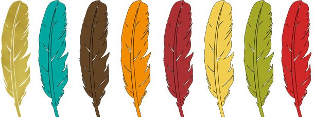 Feathers clipart.  thanksgiving collection