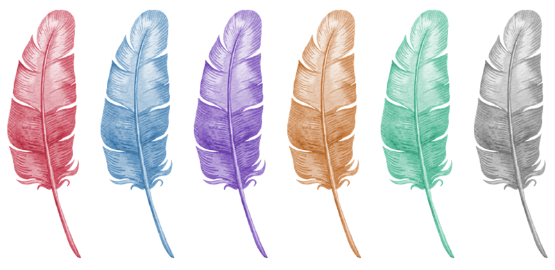 Freebie fridays handdrawn feather. Feathers clipart