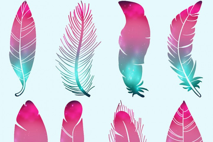 Feathers clipart. Galaxy by fantasy cliparts