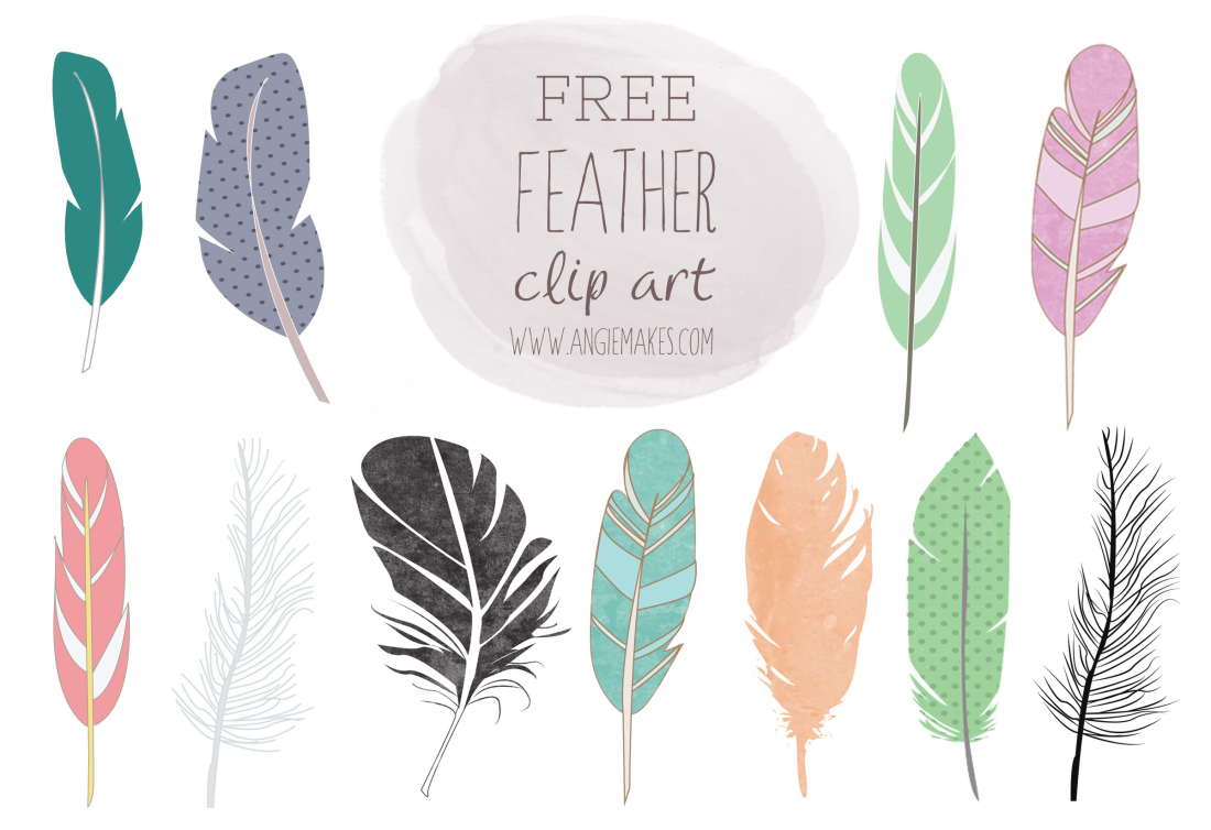 Feathers clipart. Free feather clip art