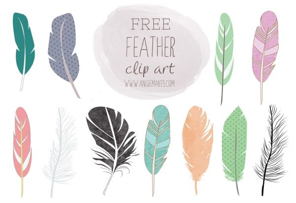 Free clip art inspiration. Feather clipart artistic