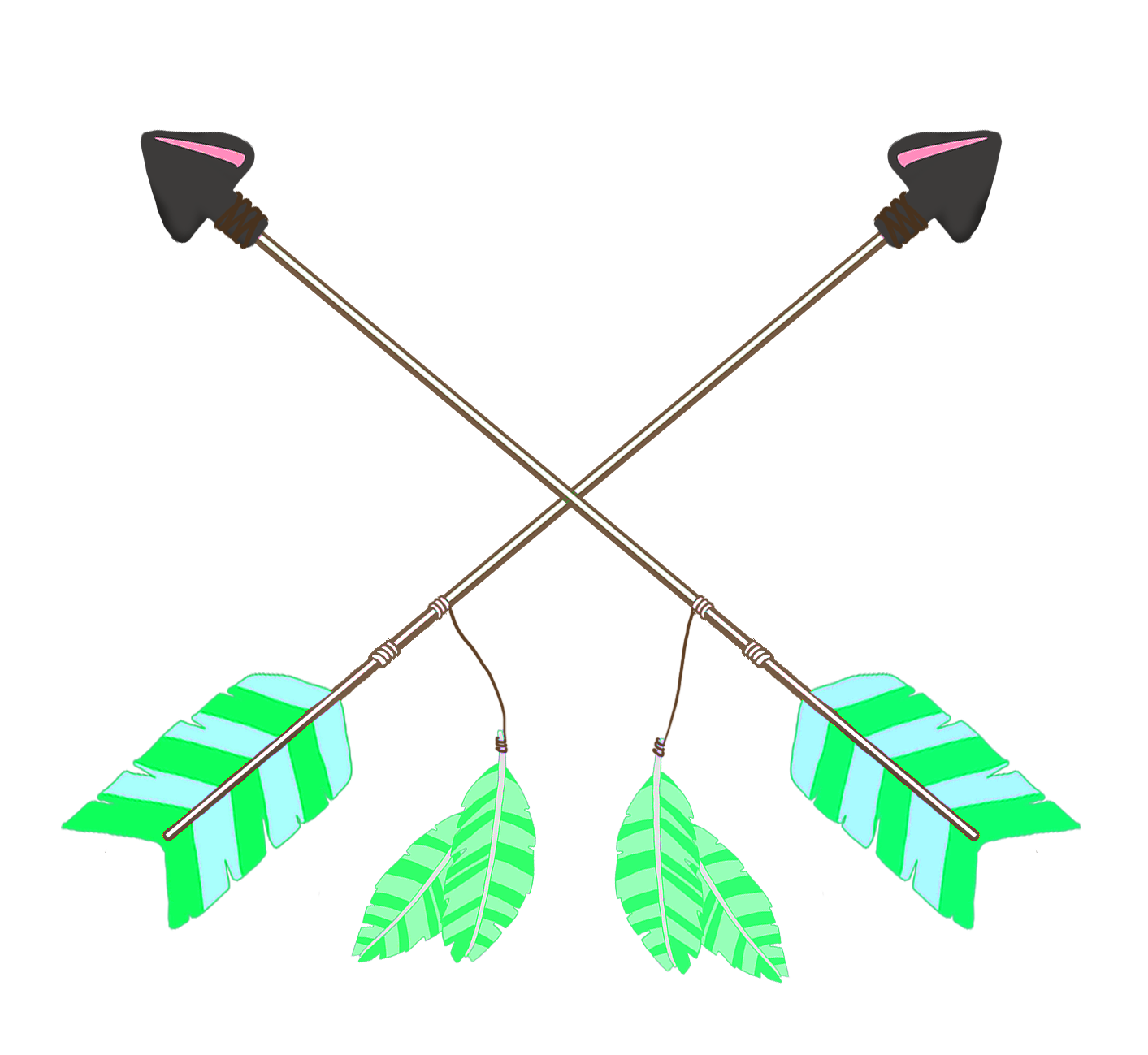 Feathers clipart arrow. All kinds of green