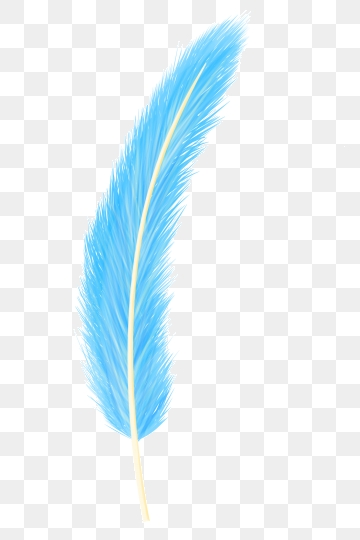 Png vector psd and. Feathers clipart blue feather