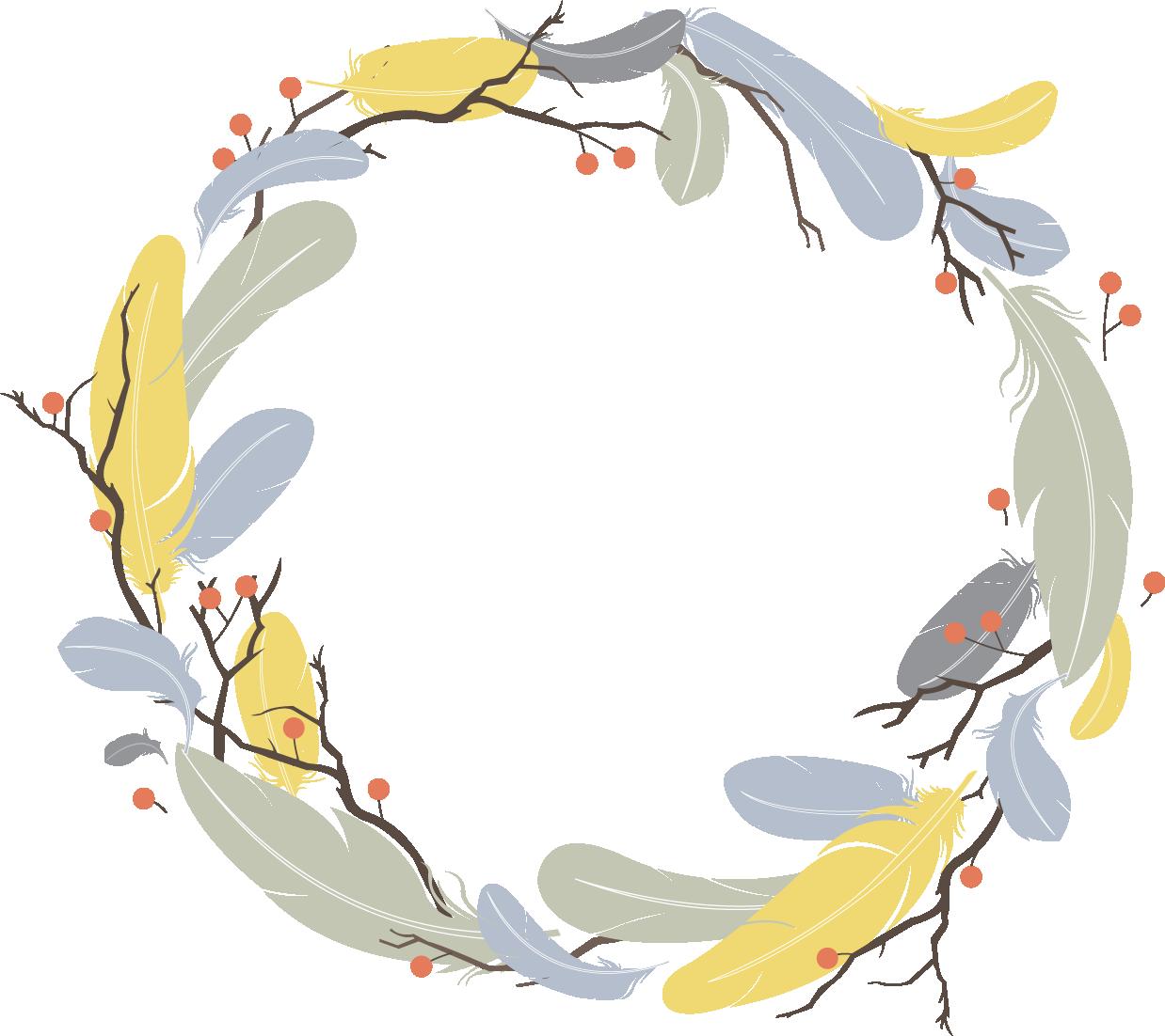 Feathers clipart circle. Feather euclidean vector clip