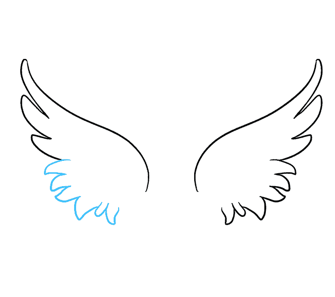 Wing clipart simple. How to draw angel