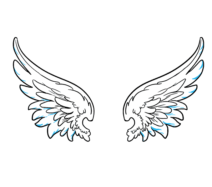 How to draw angel. Wing clipart beginner