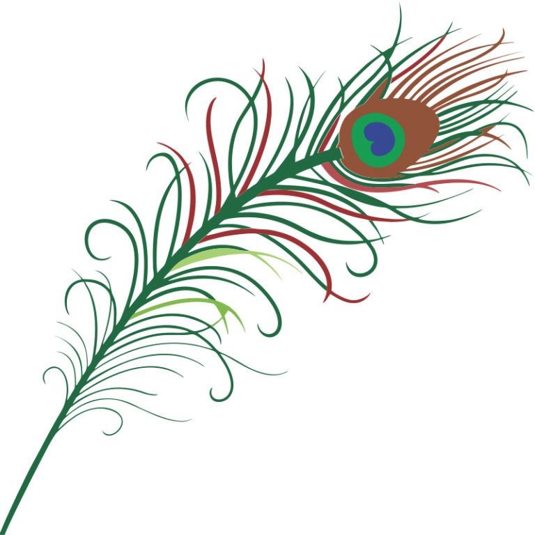 peacock clipart front