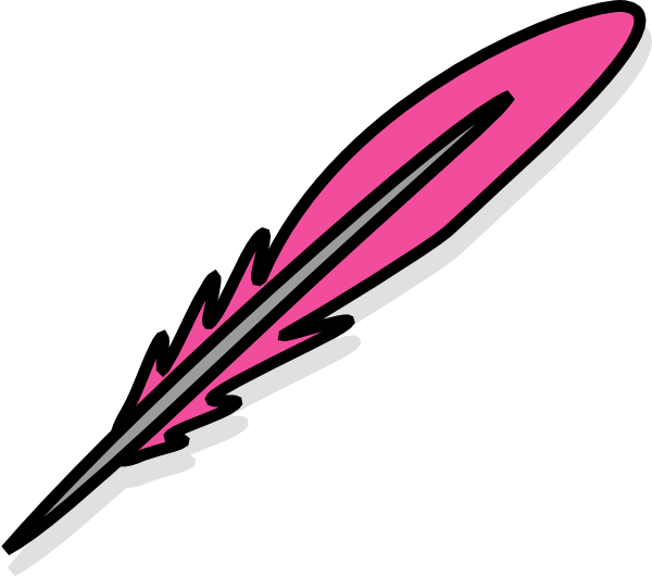 Pink clip art at. Free clipart feather