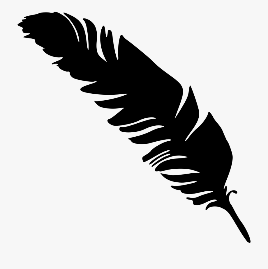 Feather png black and. Feathers clipart simple