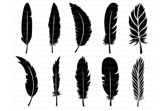 Feather boho bundle files. Feathers clipart svg