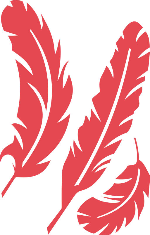 Feathers clipart svg. Red medium image png