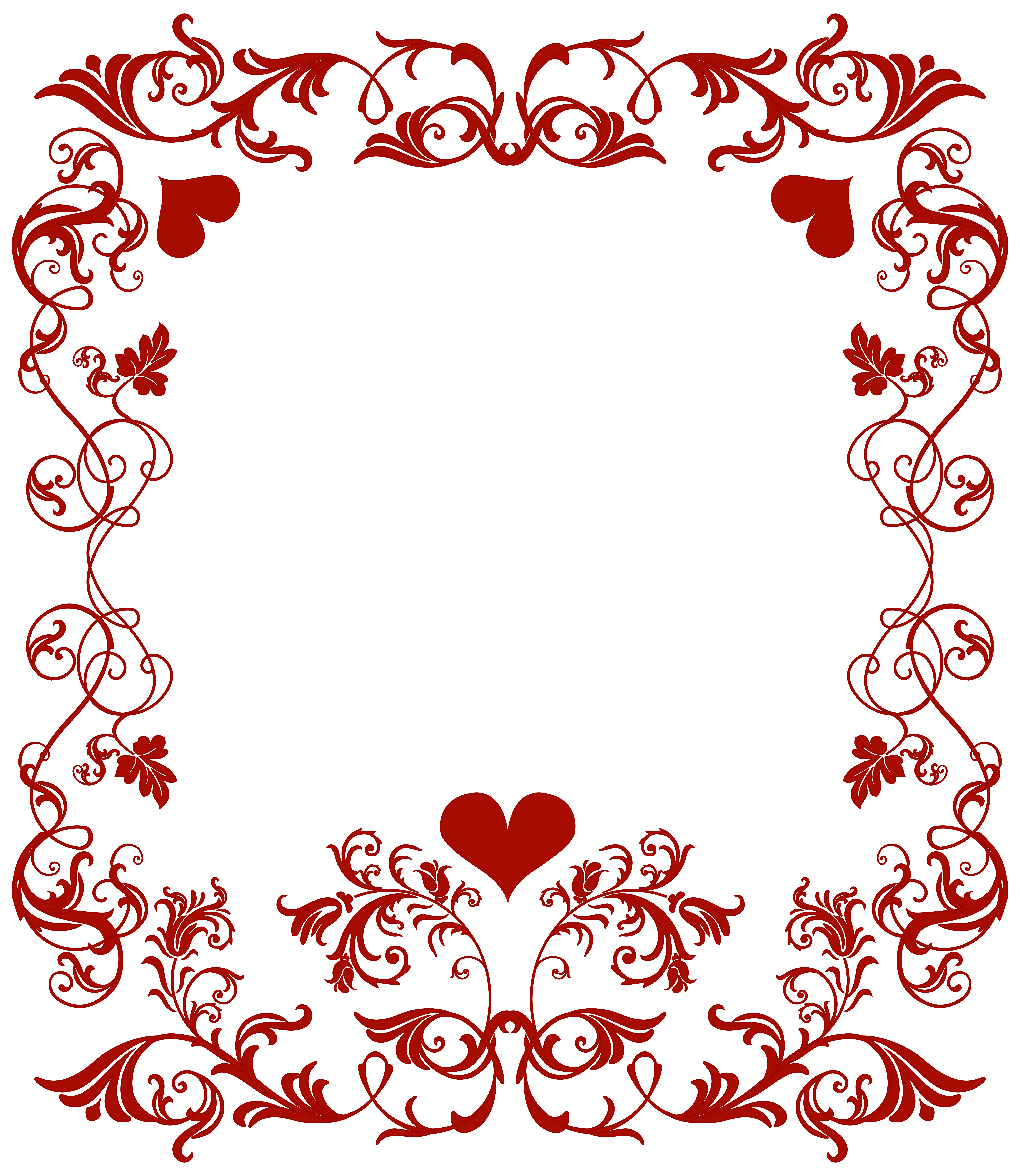 Valentine border clip art. February clipart banner