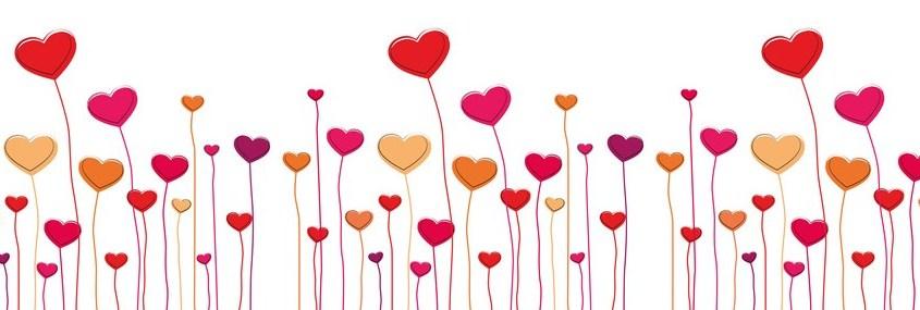 February clipart banner. Share the love dinner