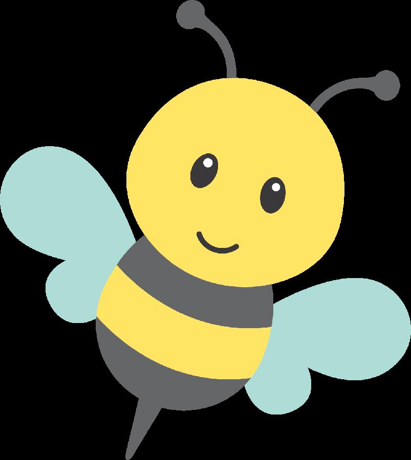Kawaii clipart bee. Minus say hello v