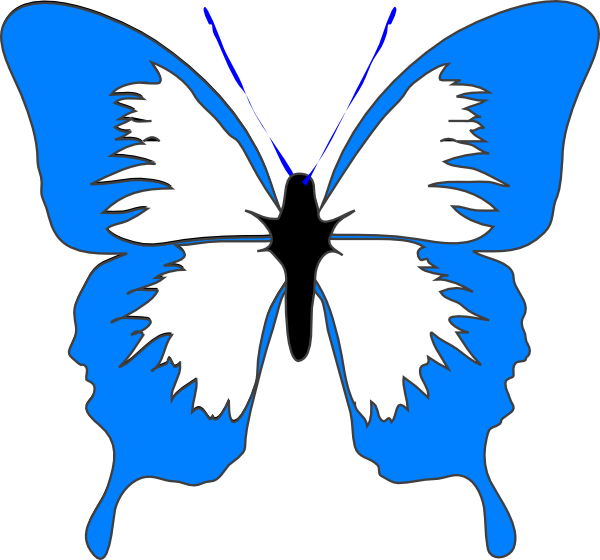 Wing clipart royalty free. Blue butterfly panda images