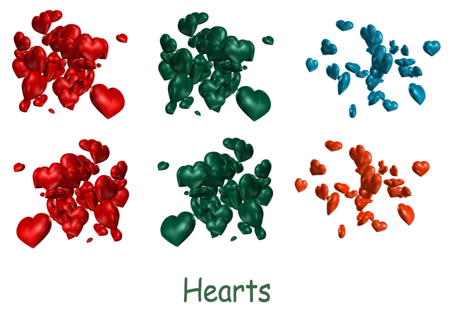 Of hearts png by. February clipart cluster heart