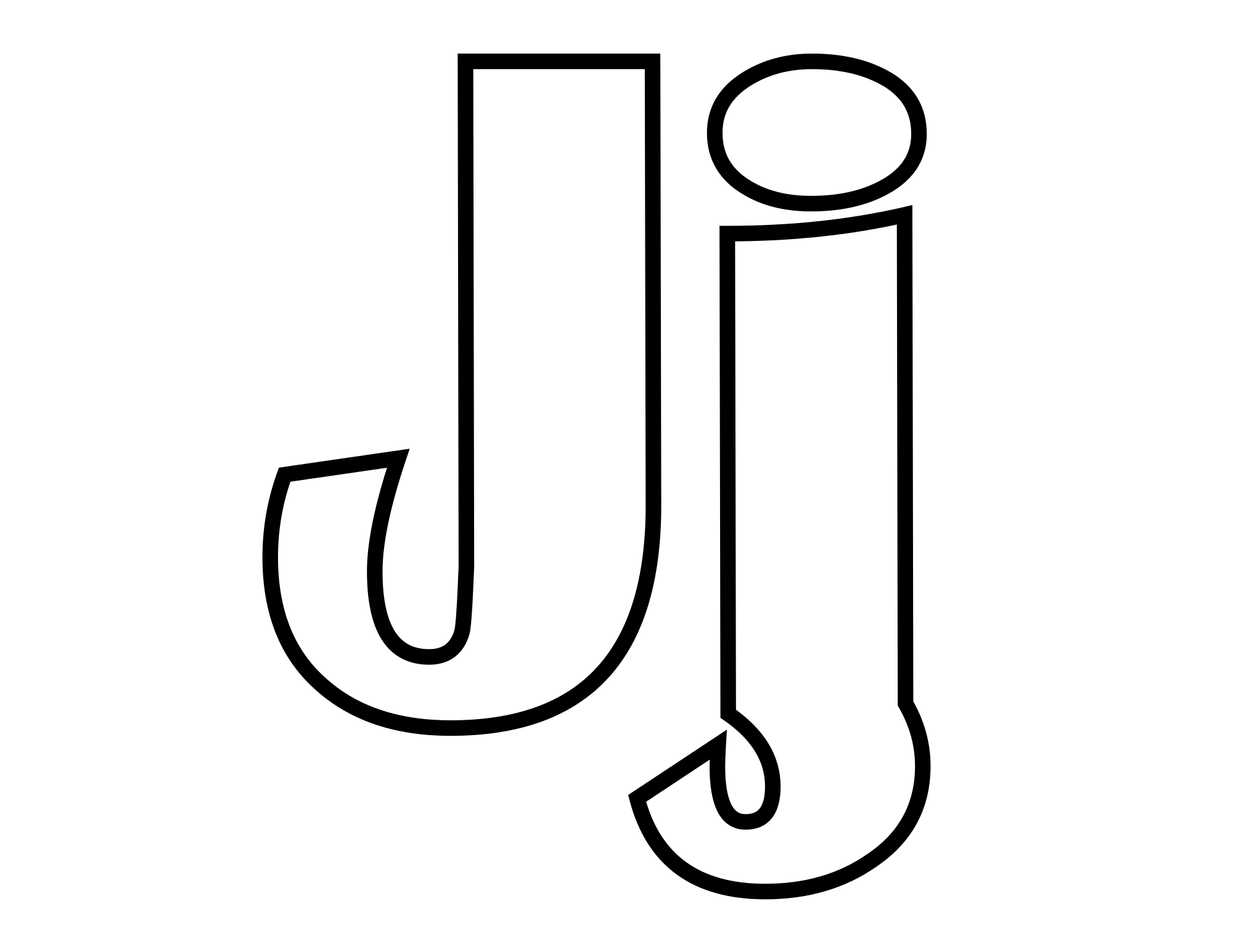 February clipart coloring. File classic alphabet j