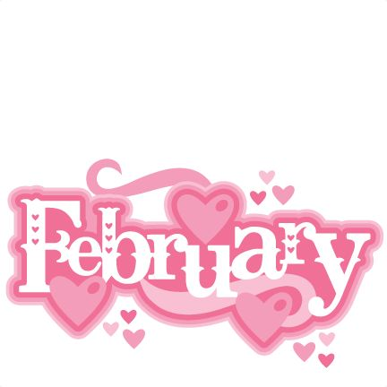 February clipart cute symbol. Free text cliparts download