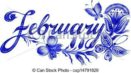 March month . February clipart february flower