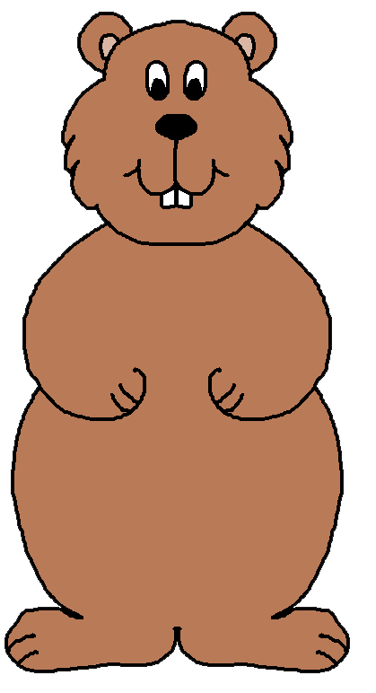 groundhog clipart coloring page