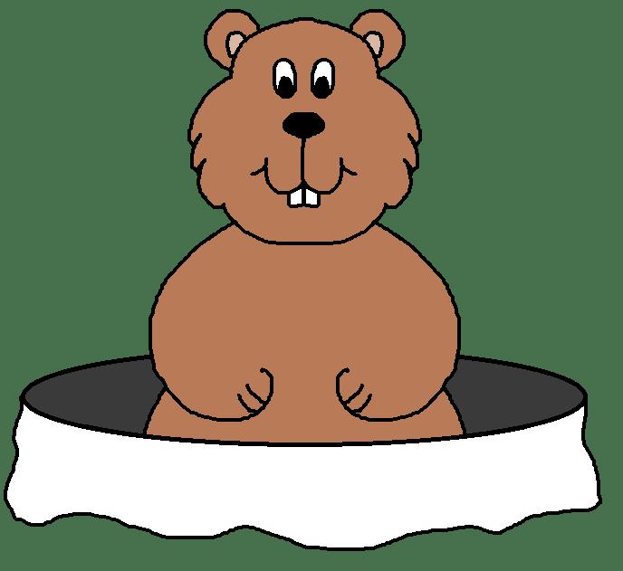 February clipart groundhog hole. Cartoon clip art cartoonwjd