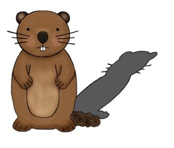 February clipart groundhog hole. Pencil and in color