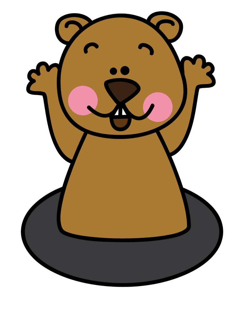 groundhog clipart color