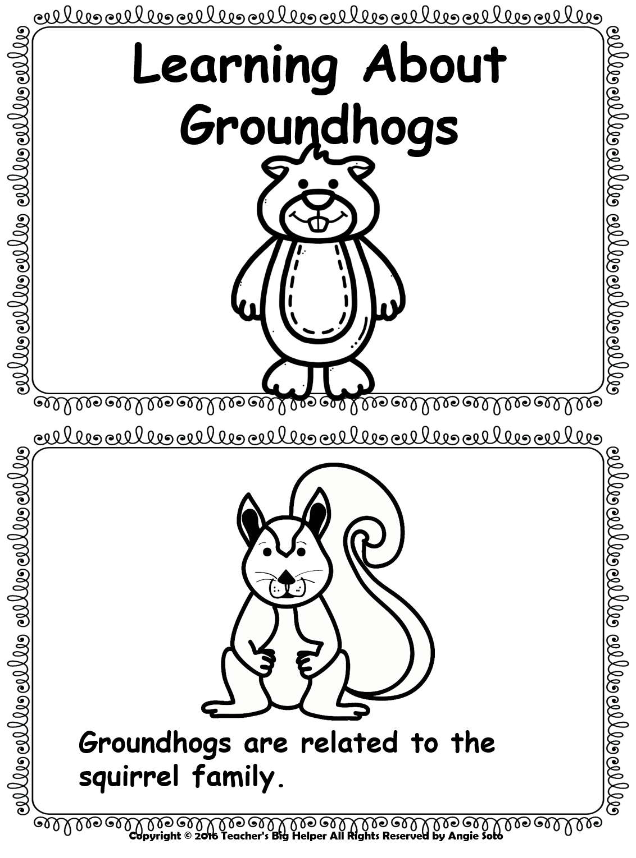 Teacher s big helper. February clipart groundhog shadow