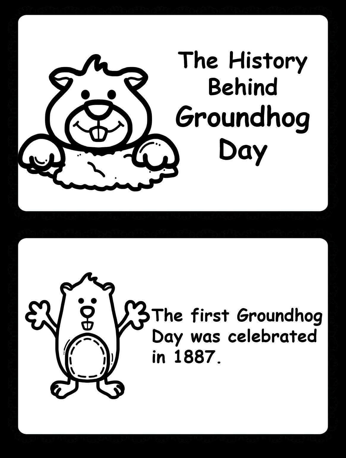 February clipart groundhog shadow. Teacher s big helper