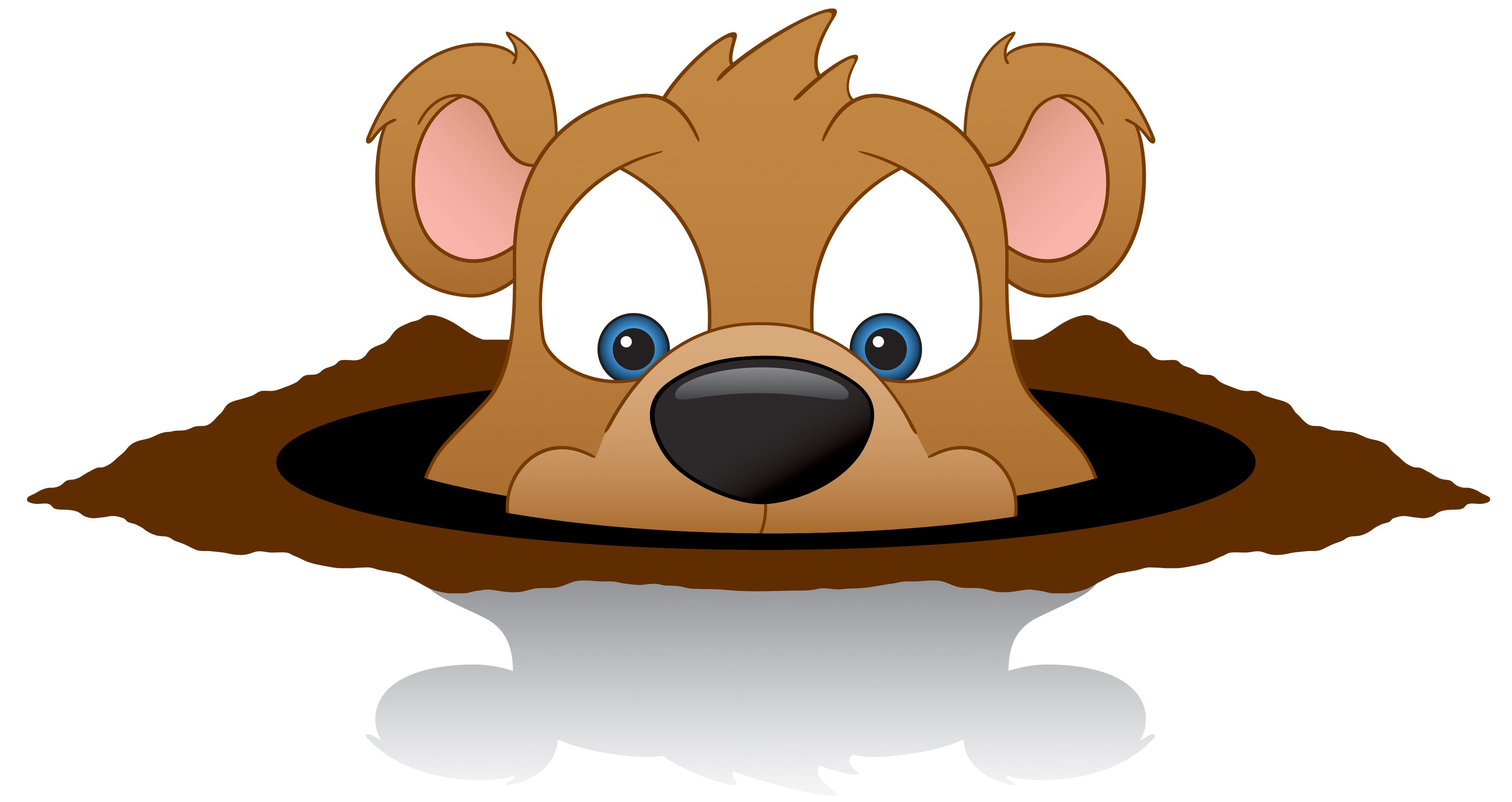 Puscatawny phil clip art. Groundhog clipart happy