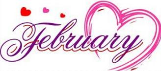 February clipart header.  images clip art
