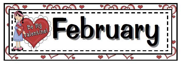 Free calendar headings cliparts. February clipart header