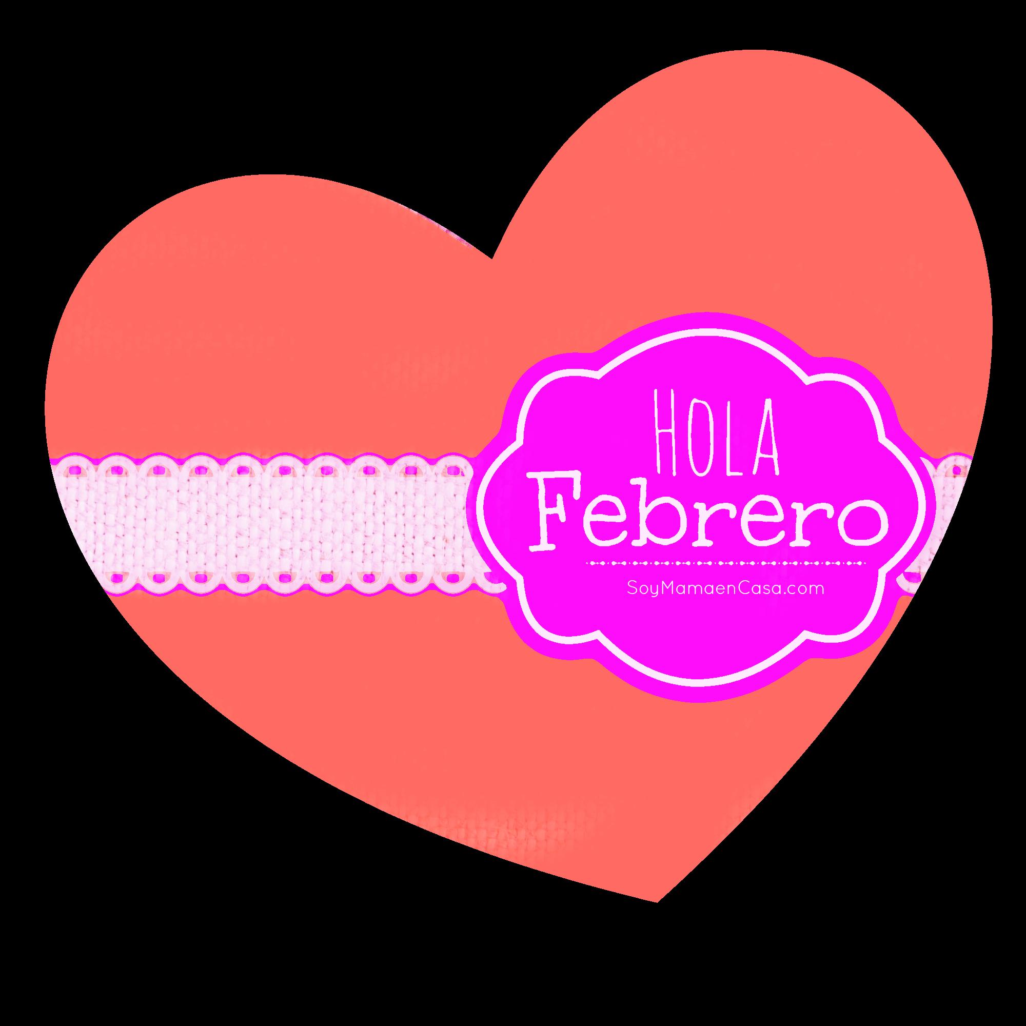 February clipart heart shape design. Hola febrero http soymamaencasa
