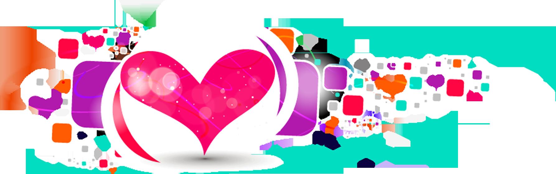 Valentine s day desktop. February clipart heart shape design