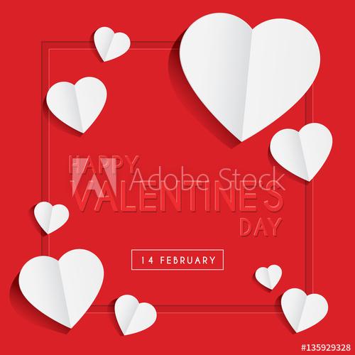 February clipart heart shape design. Happy valentine s day