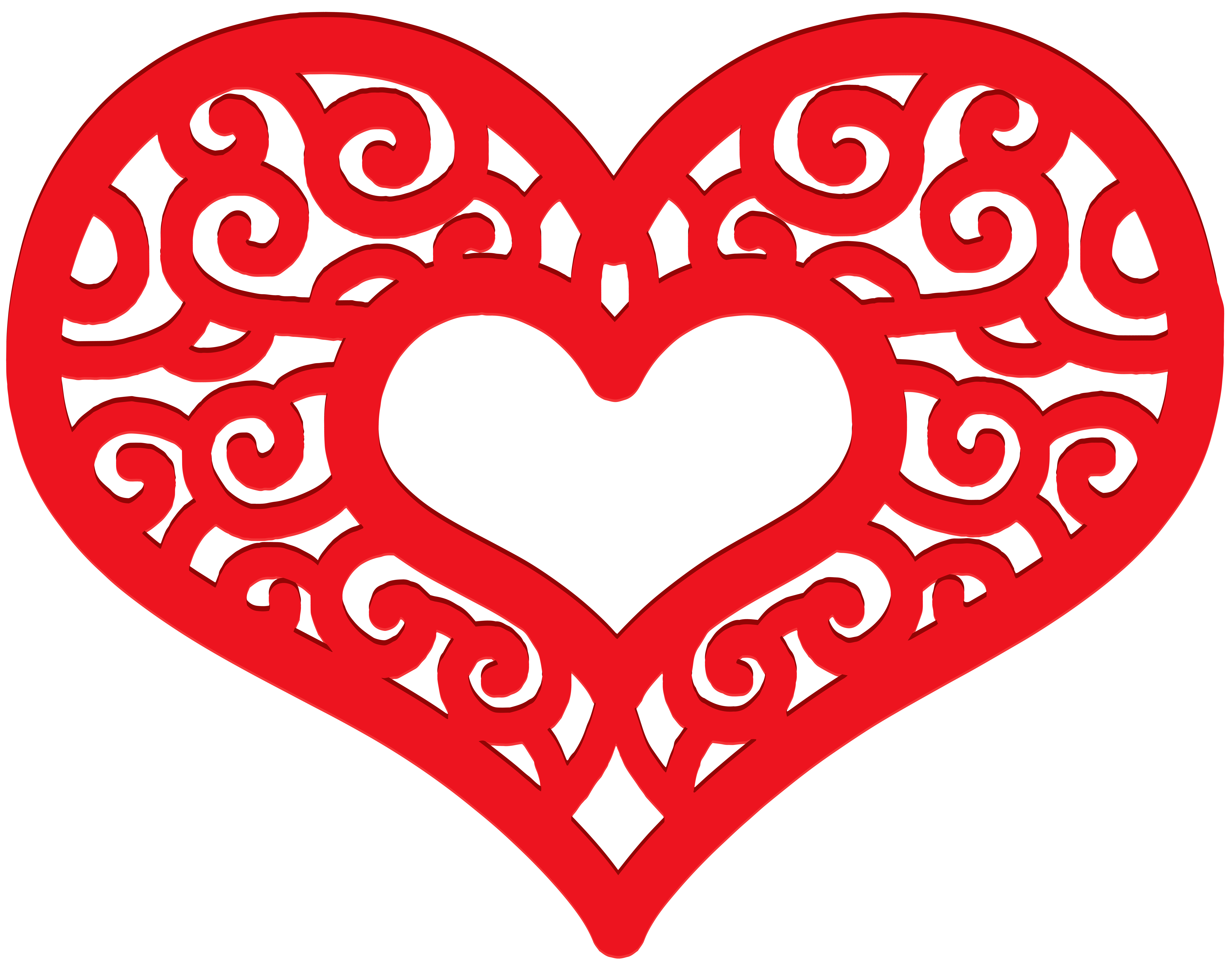 February clipart heart shape design. For kids at getdrawings