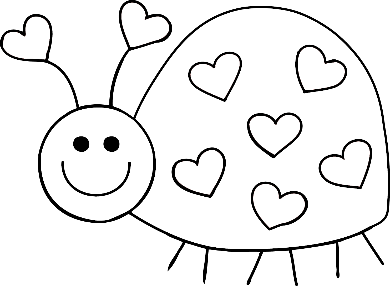 Granny goes to school. February clipart love bug