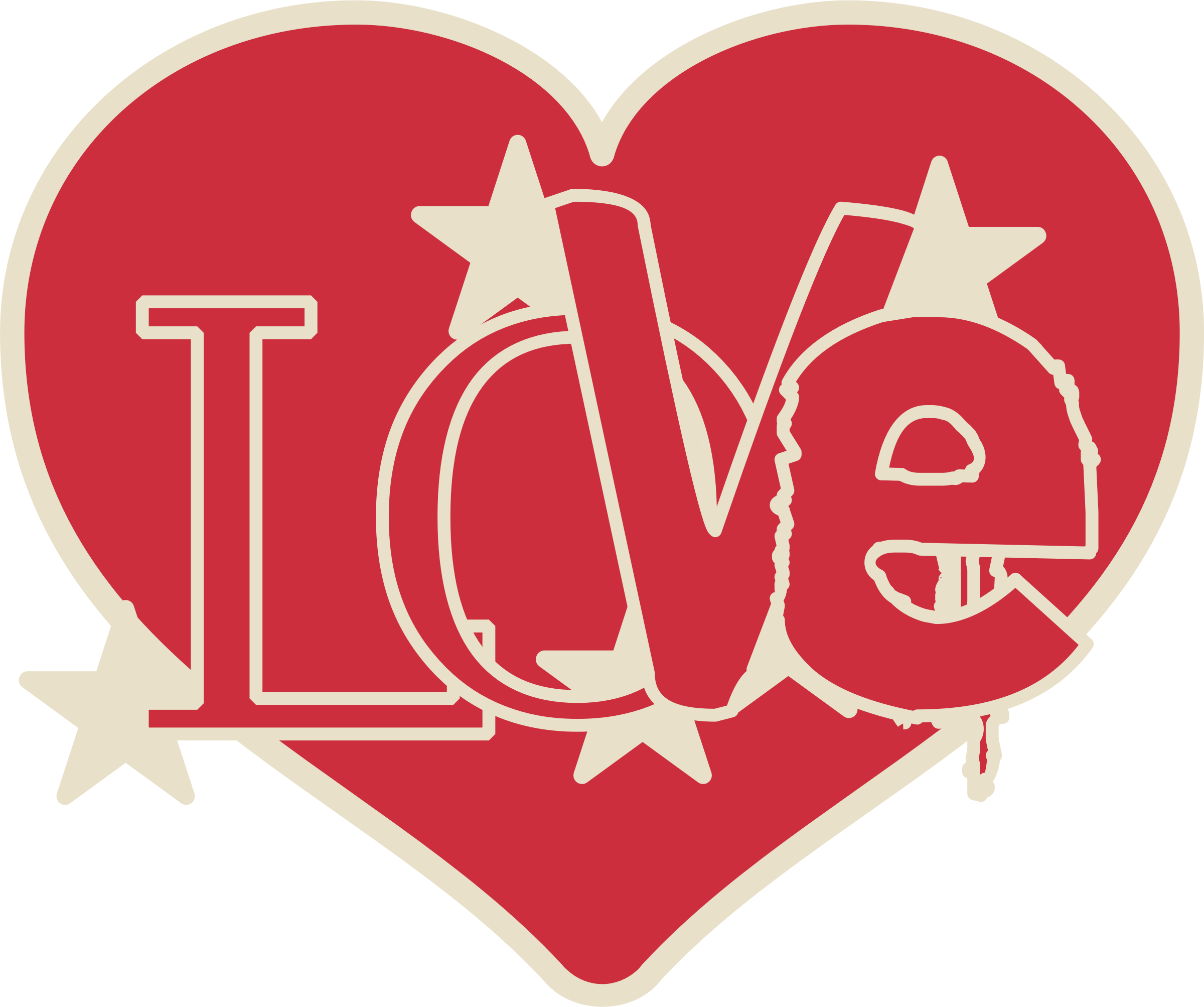 February clipart loved. Love heart big image