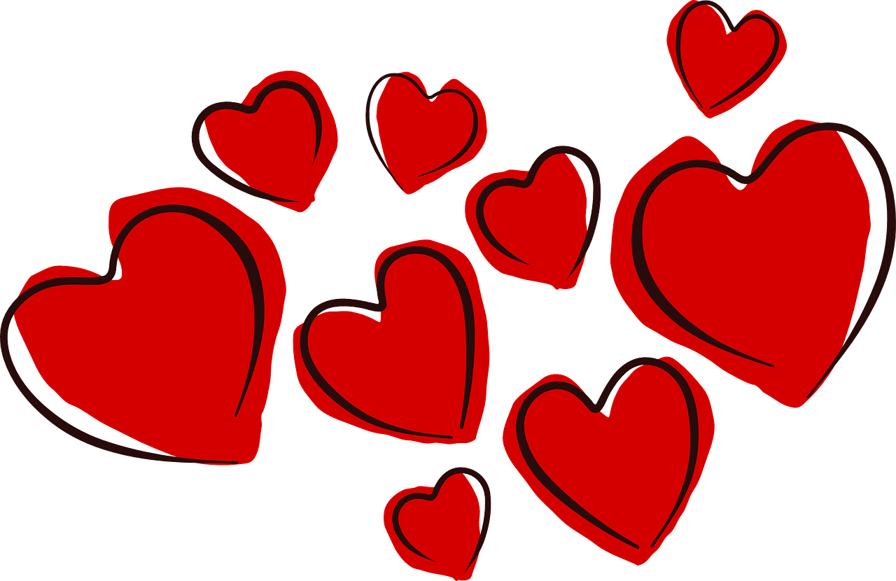 Upcoming community events week. February clipart many heart