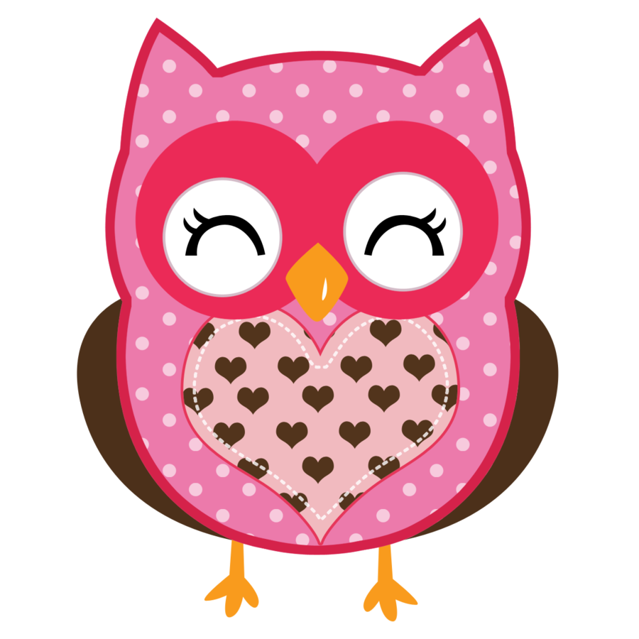 Valentine cute minus owl. Owls clipart february