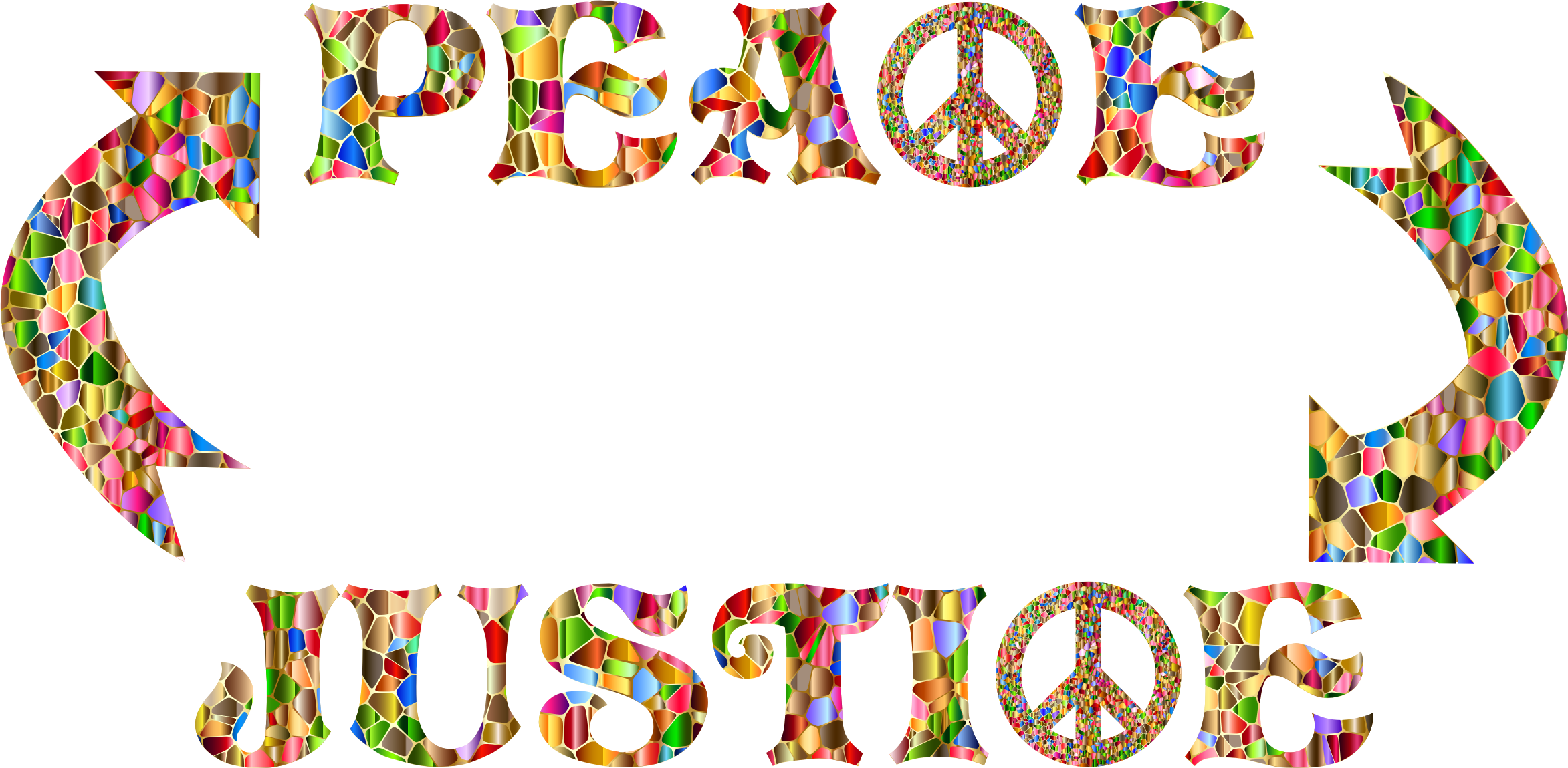 Words clipart peace. Justice no background icons