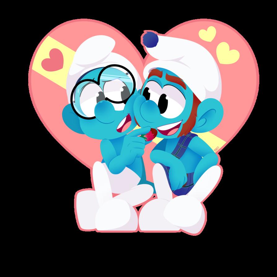 February clipart secret valentine. Smurfy you re berry