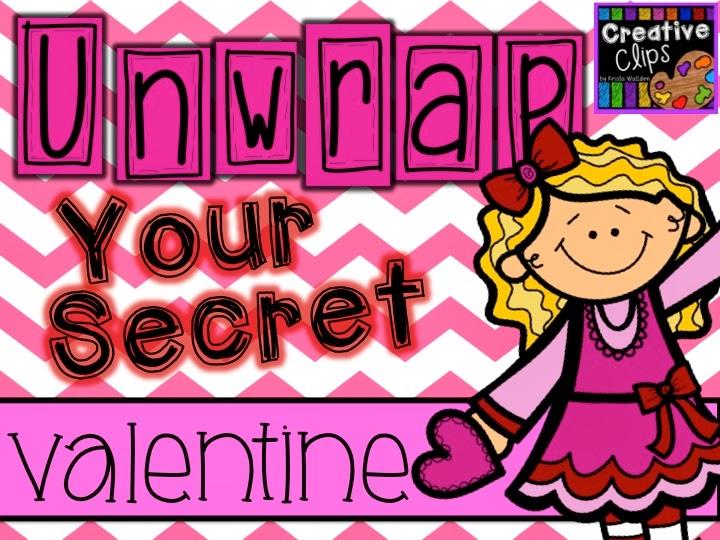 February clipart secret valentine. The creative chalkboard