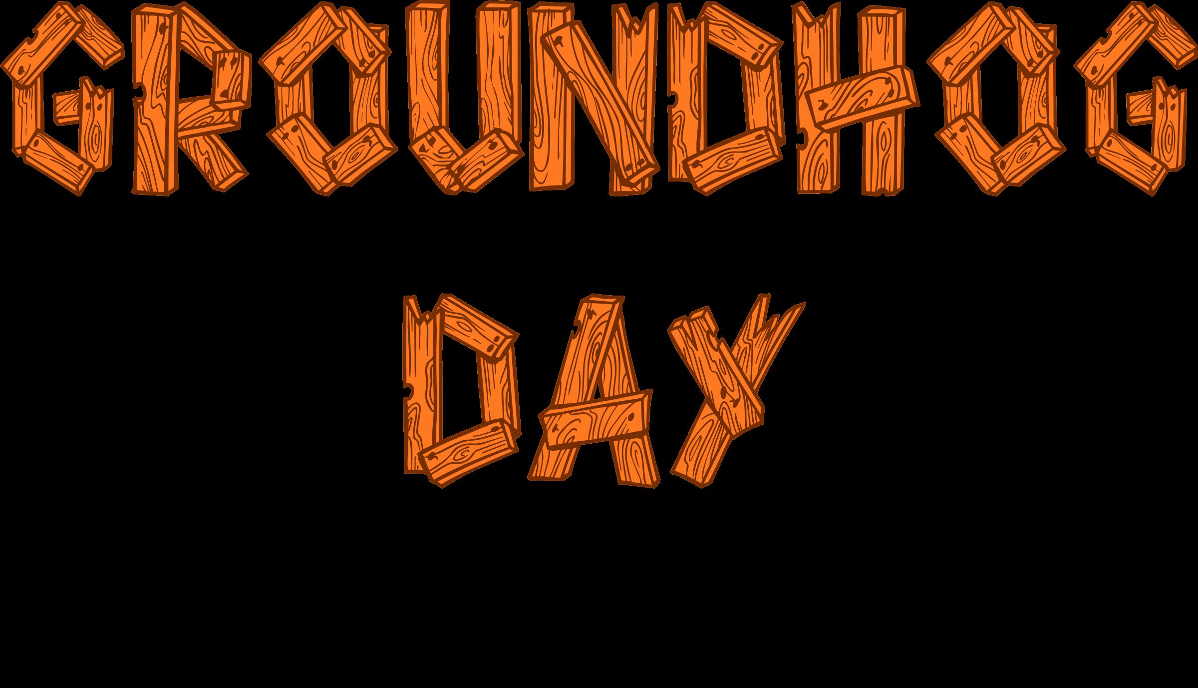 Groundhog clipart groundhog day. Sign