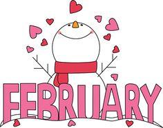 best cute calendars. February clipart theme