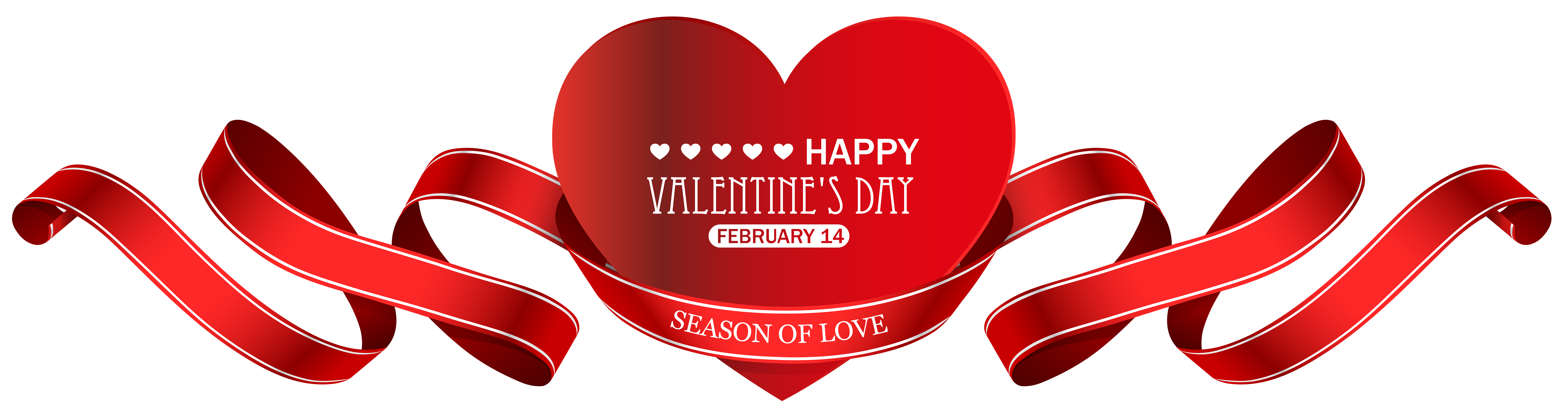 February clipart valentine. S day red heart