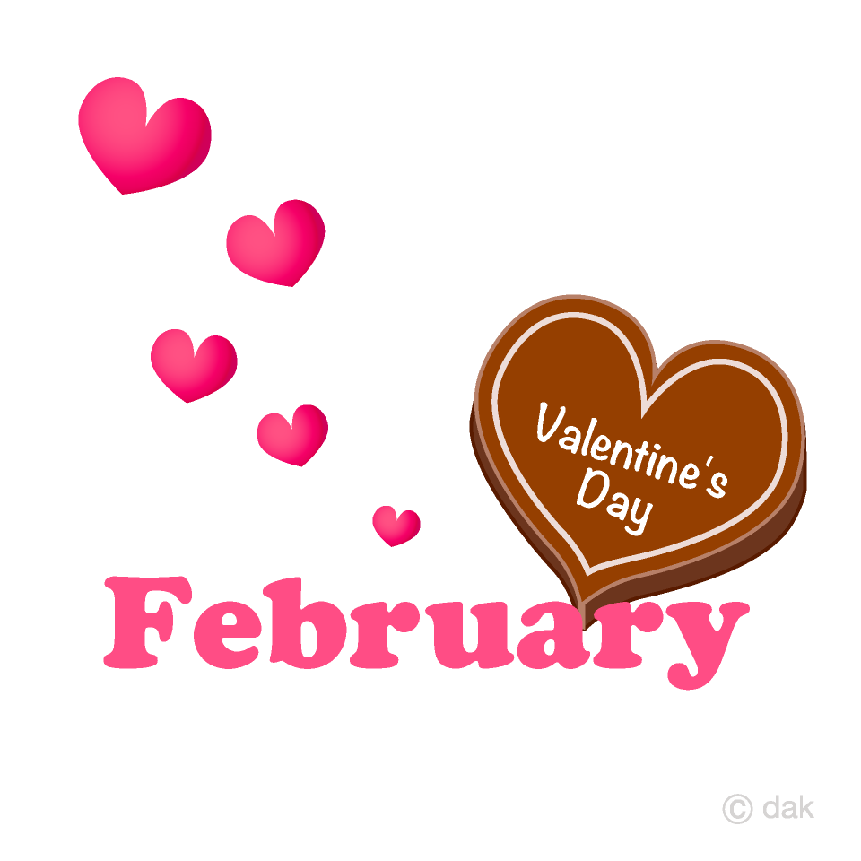 February clipart valentine's day chocolate. Valentine s free picture